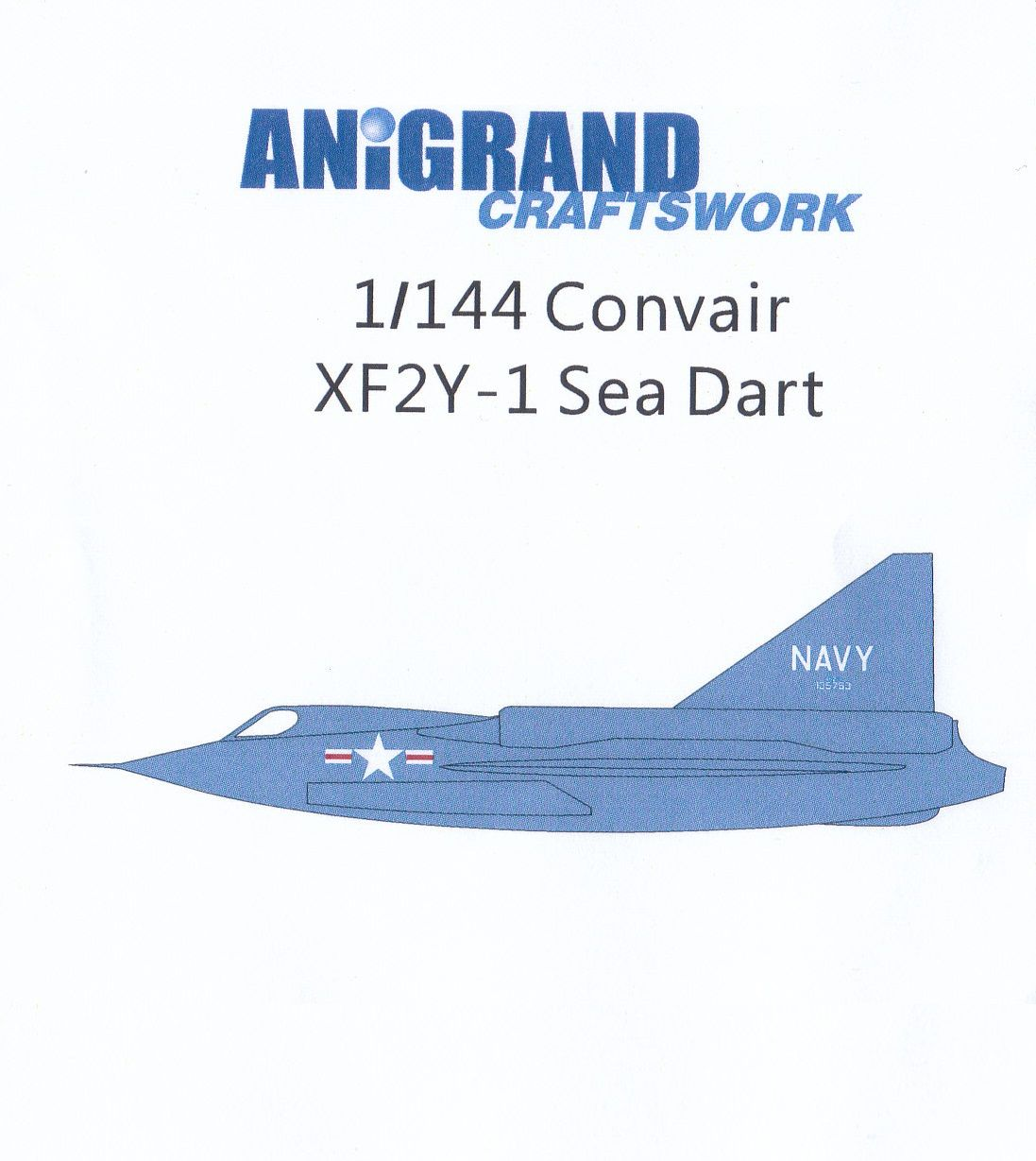 /Anigrand_Catalog/Anigrand/anigrand/dameya/1-144 Convair XF2Y-1 Sea Dart.jpg